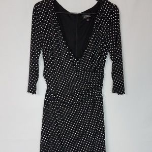 Adriana Papell Polka Dot Dress Black Size 14   S8